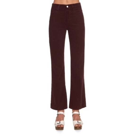 77df841742 Ag Adriano Goldschmied Pants | Revolve Maroon High Waisted Corduroy ...